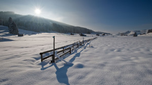 Winterlandschaft im Gontenbad
